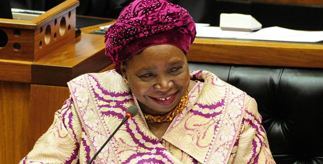 African Union Commission Chair Nkosazana Dlamini-Zuma.