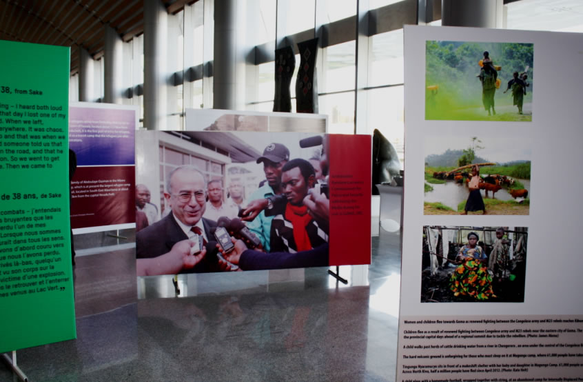 Photo Exhibition showcasing a selection of works depicting the unique experience of persons displaced by armed conflict, AU Headquarters