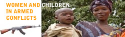 Women and children in armed conflicts/ Gender mainstreaming