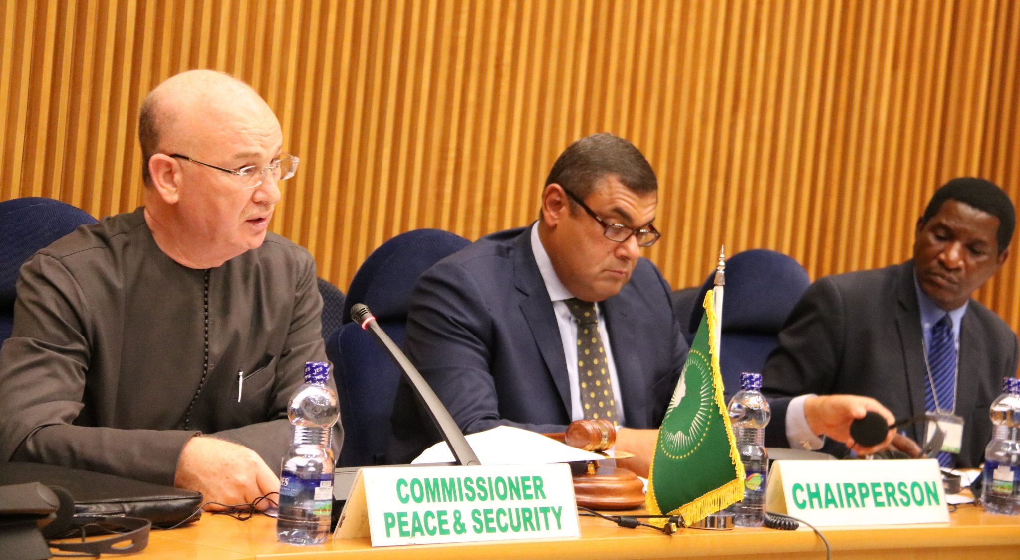 Amb. Chergui briefing the PSC on outcomes of 9th meeting of Int'l Support Group for the Central African Rep.(ICG-CAR)