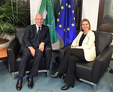Commissioner Chergui meets in Brussels with EU VP Federica Mogherini