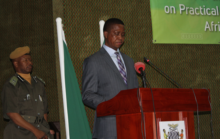 H.E. Mr Edgar Chagwa Lungu,  President of Zambia