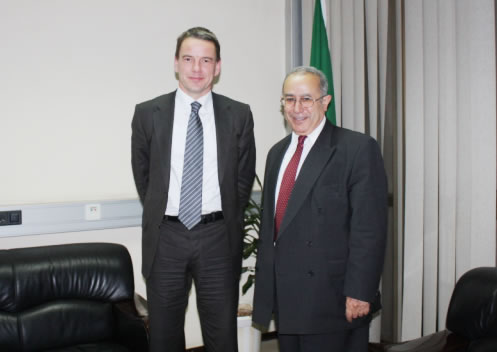 Mr. Christian Friis Bach with Ambassador Ramtane Lamamra, AU Headquarters