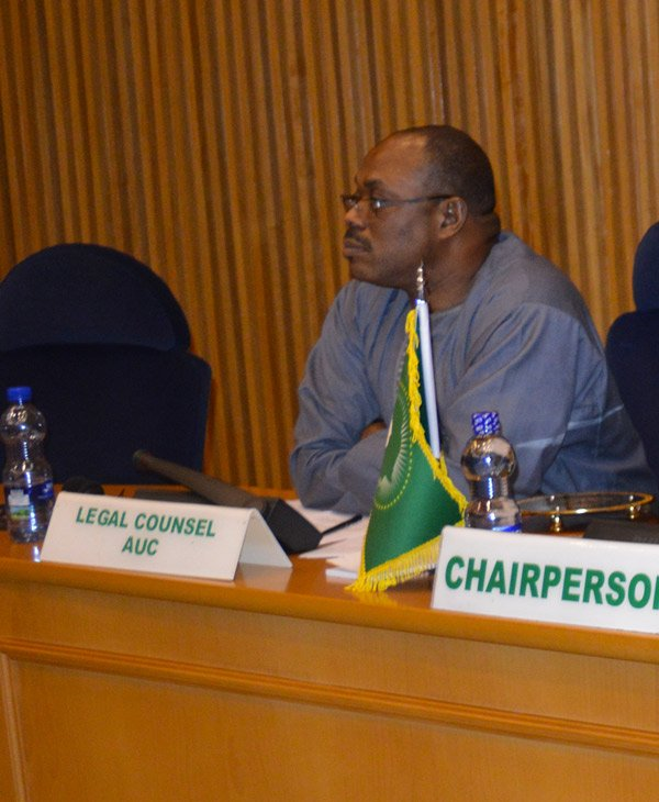 Prof. Vincent O. Nmehielle briefed  the PSC on the Legal process for membership of the AU