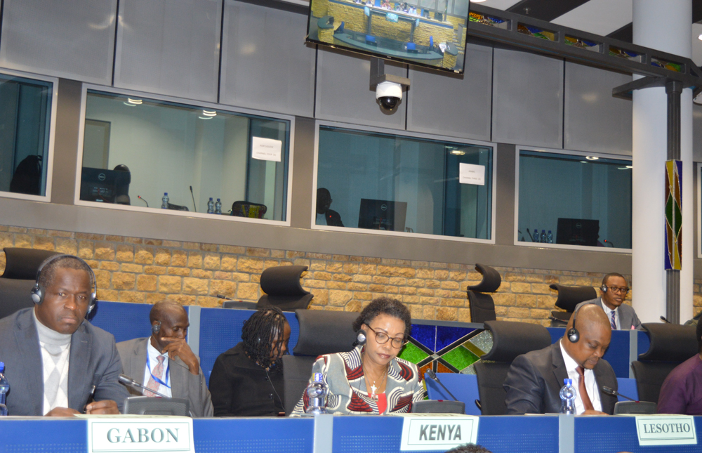 The 821st meeting of the AUPSC on the attempted coup d'état led by a group of soldiers during the night of 6 to 7 January 2019, in Gabon