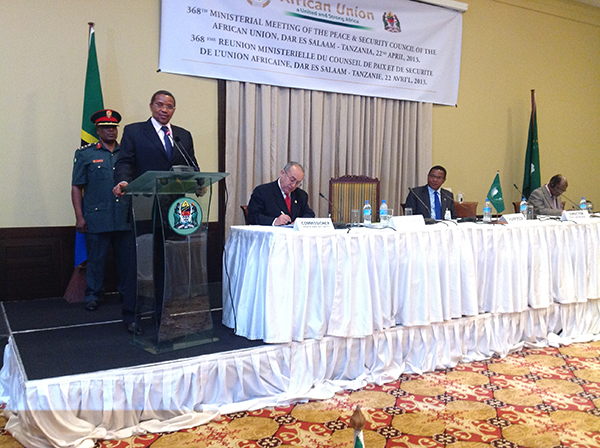 His Excellency Dr. Jakaya Mrisho Kikwete, President of the United Republic of Tanzania, during the opening of the 368th PSC Meeting at the Ministerial Level, Dar-es-Salaam April 22