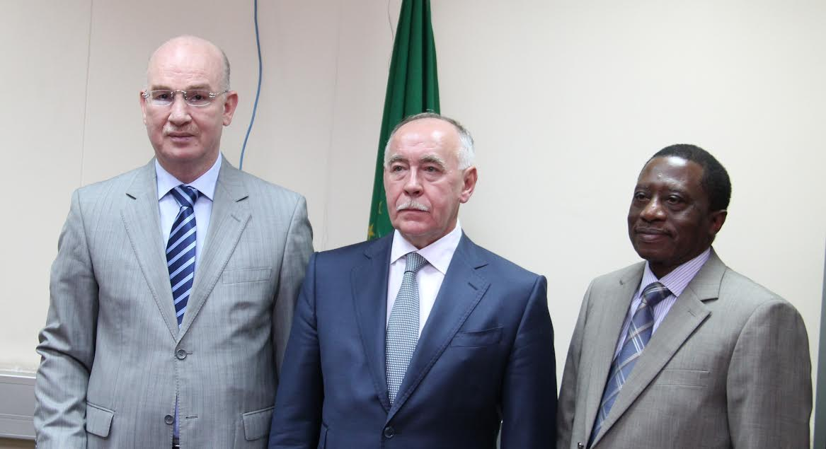 African Union Commissioners for Peace and Security and Social Affairs receive Russian Federation Director of the Federal Drug Control Service
