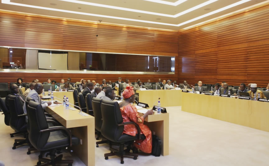 Participants  attending  the PSC meeting on the situation in Guinea-Bissau