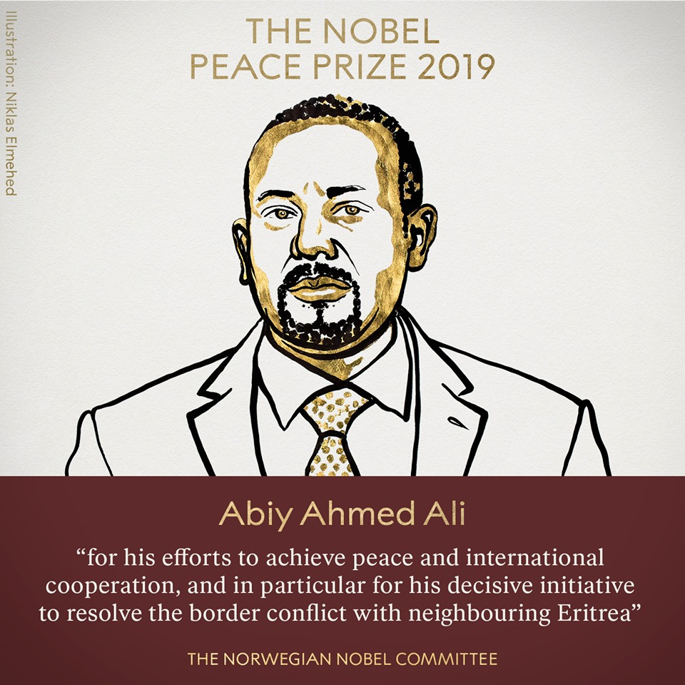The AUC Chairperson congratulates Ethiopian PM Abiy Ahmed for award of 2019 Nobel Peace Prize