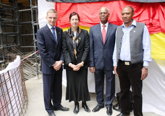 The African Union and the German Government organize the 'topping out' ceremony of the AU Peace and Security building