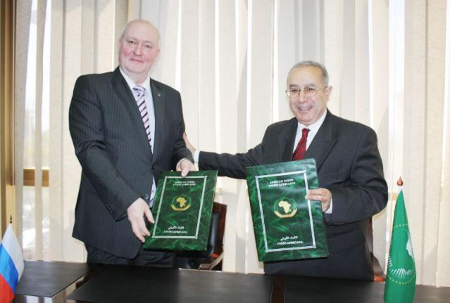 La Commission de l'Union Africaine et la Fédération de Russie signent un accord financier une valeur de USD 2 millions pour soutenir les opérations de paix