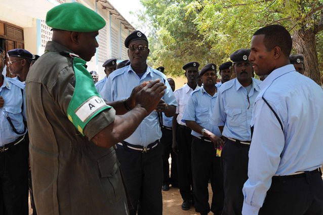 AMISOM assists Somali Police Force in vetting ex-police officers