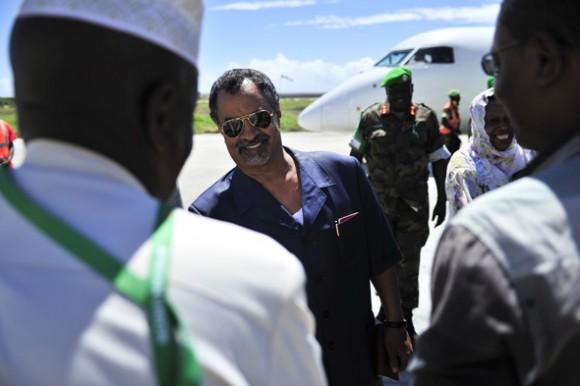 Le nouveau chef de l'AMISOM Visite Mogadiscio et a rencontre le président Somalien