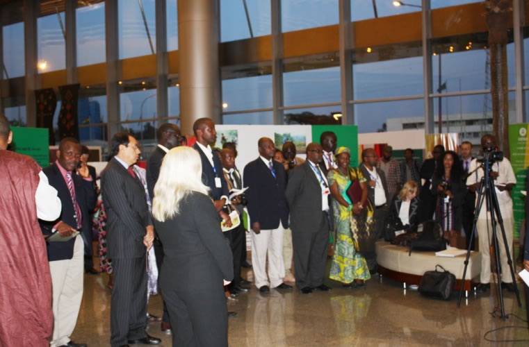 Staff of the AU, the Diplomatic Corps and representatives of the media in attendance during the Launch of the Photo Exhibition