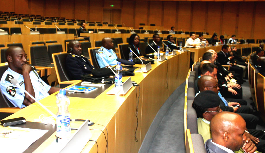 Participants attending the opening ceremony of Exercise NJIWA at the AU Headquarters