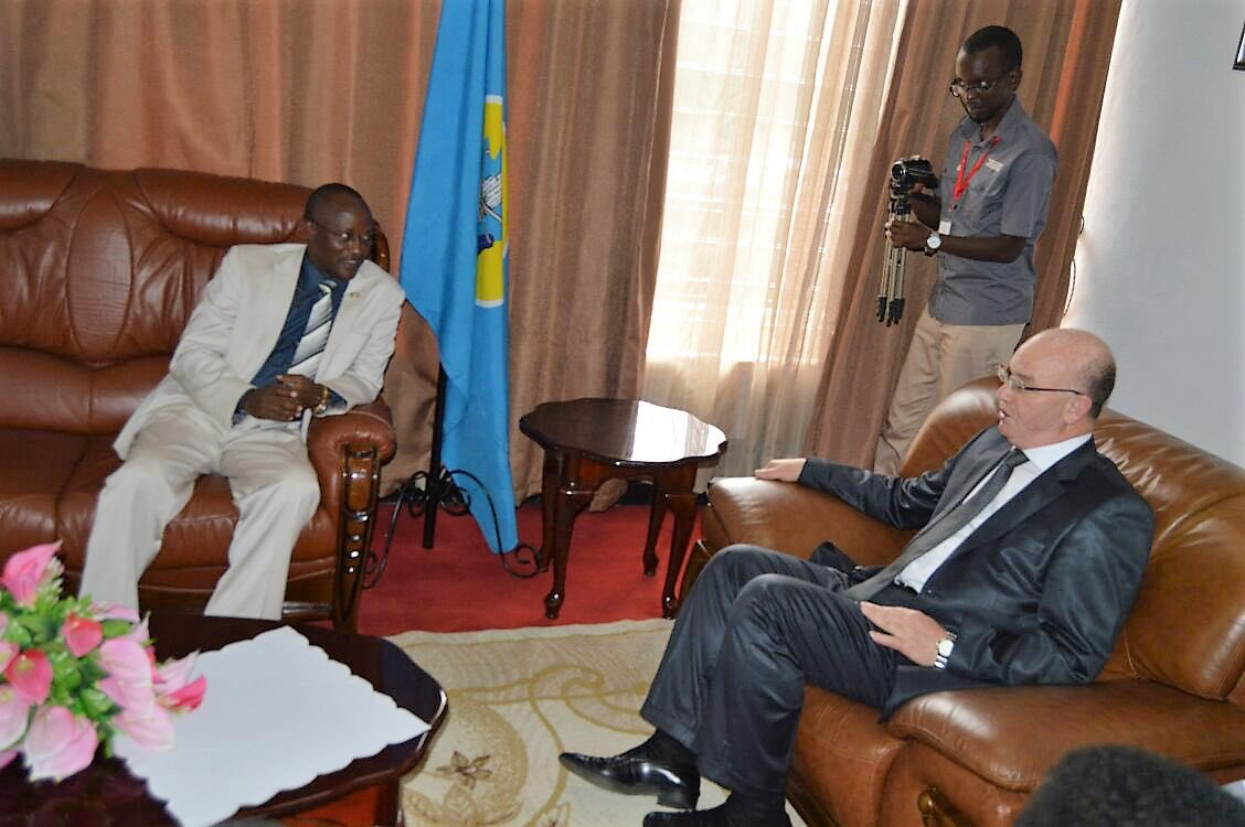 The AU Commissioner for Peace and Security on a visit to Burundi
