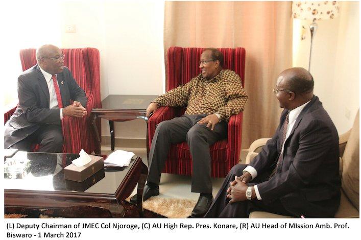 AU High Representative for South Sudan, H.E. Alpha Oumar Konare, concludes six-day working visit to South Sudan