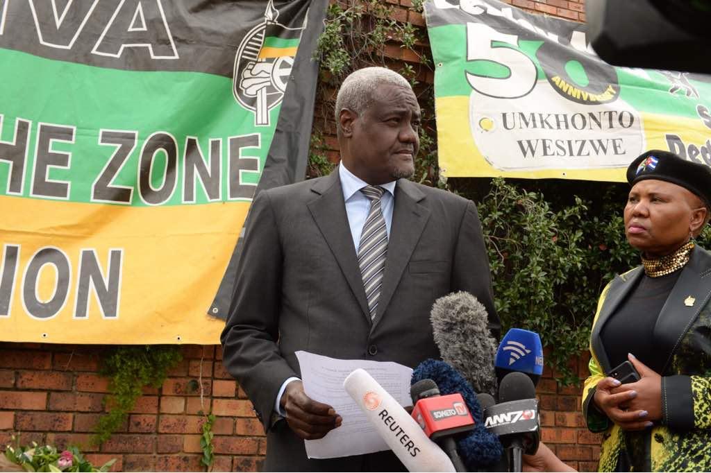 Communiqué sur la visite du Président de la Commission de l'Union africaine en Afrique du Sud
