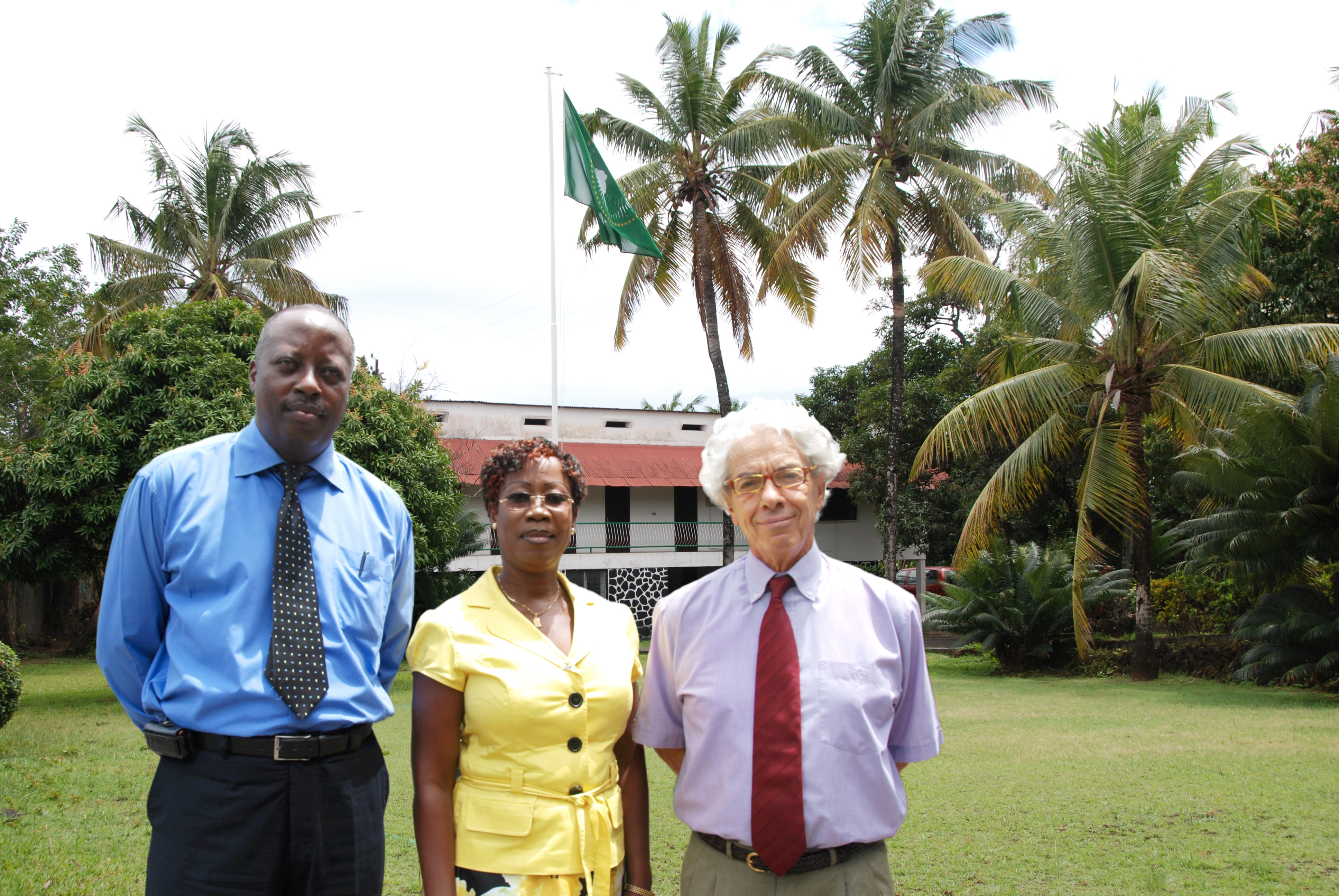 Officers at the Comoros liaison office