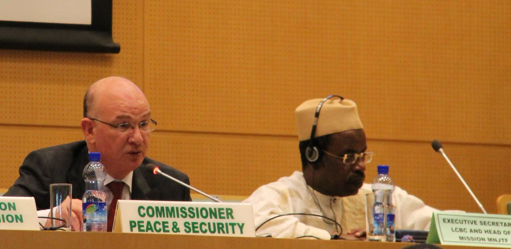 The African Union Commission holds a donors' conference in support of the multinational joint task force operations against Boko Haram terrorist group