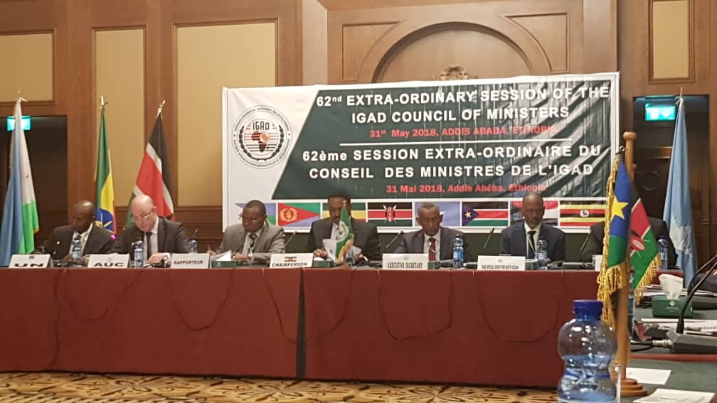 Statement of the Commissioner for Peace and Security, Smail Chergui, to the IGAD council of ministers, 31 may 2018 Sheraton, addis ababa