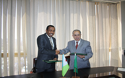 Ambassador Mohamed Idriss Farah and Ambassador Ramtane Lamamra, at the AU Headquarters