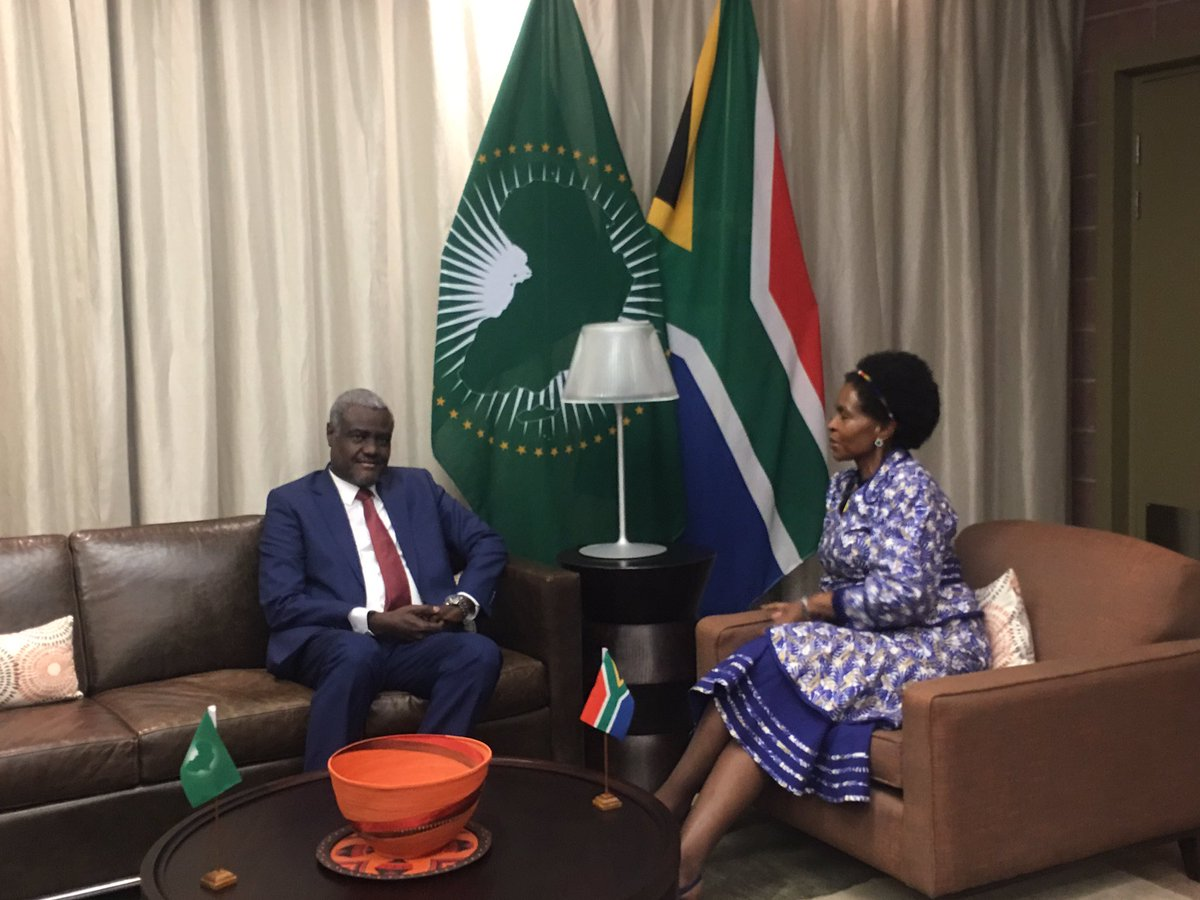 Statement on the visit of the Chairperson of the Commission of the African Union to South Africa