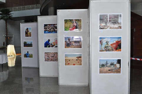 Photo exhibition, showcasing the effects of cluster bombs on civilians