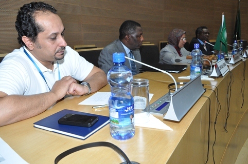 (From L-R) Dr. Tarek A. Sharif, Head, Defense and Security, AU PSD, Amb. Zachary Muburi-Muita, SRSG, UNOAU, Dr. Elham Mahmoud Ahmed IBRAHIM, A.g Commissioner for Peace and security, Mr. Vincent Ochilet Deputy Head of Delegation, ICRC