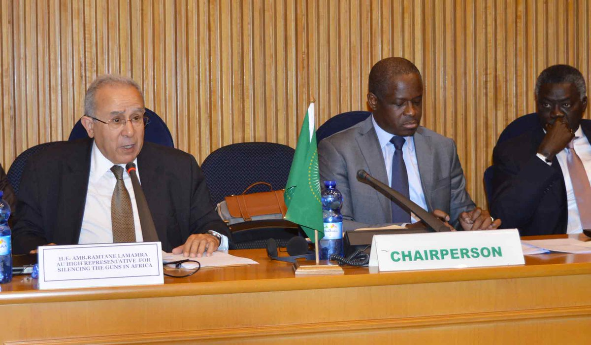 The 824th meeting of the AU Peace and Security Council: Open Session, exchanged views with the AU High Representative for Silencing the Guns in Africa, H.E. Ramtane Lamamra