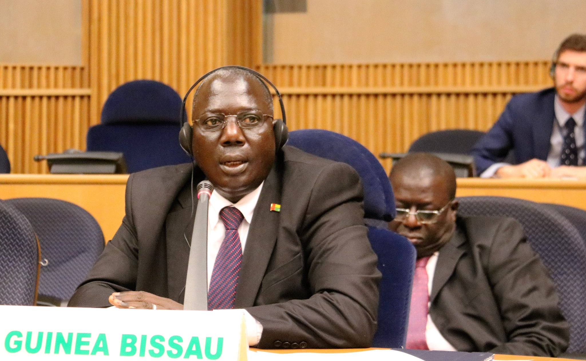 Guinea Bissau Secretary of State for International Cooperation briefs PSC on the situation in his country.