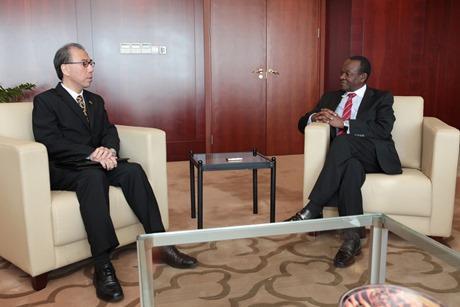 H.E. Mr. Kazuhiro SUZUKI, Permanent Representative of Japan to AU with AU Deputy Chairperson, Erastus J.O. Mwencha