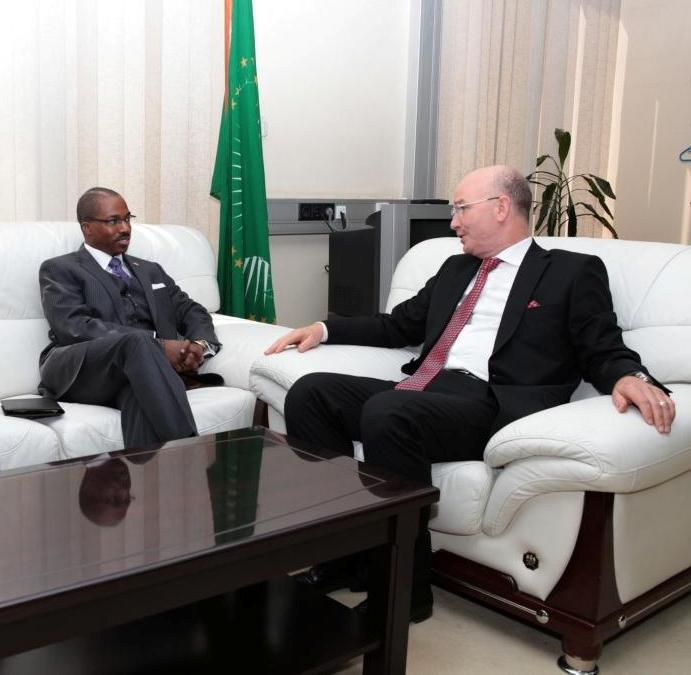 Amb. Smail Chergui  (R) meeting with Amb. Reuben E. Brigety