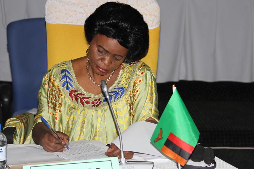 H.E. Ambassador Susan Sikaneta of Zambia