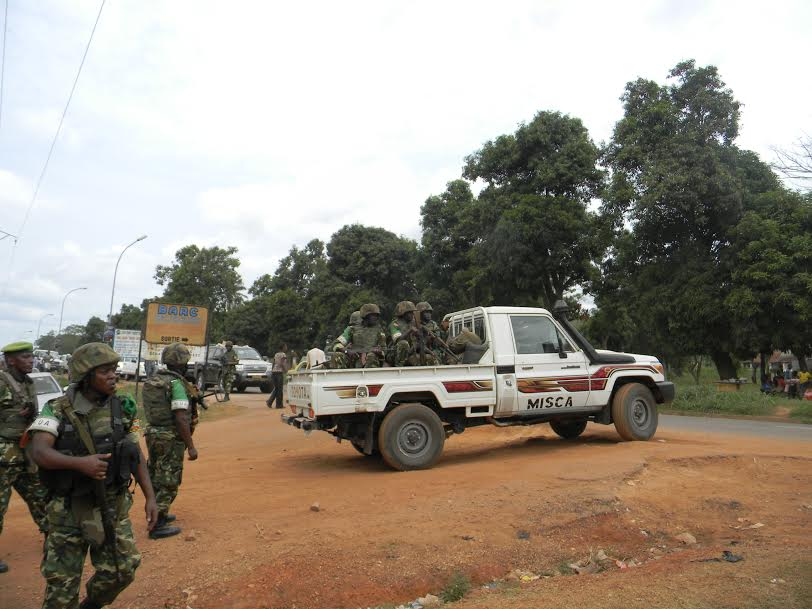 MISCA troops patrolling in the Central African Republic
