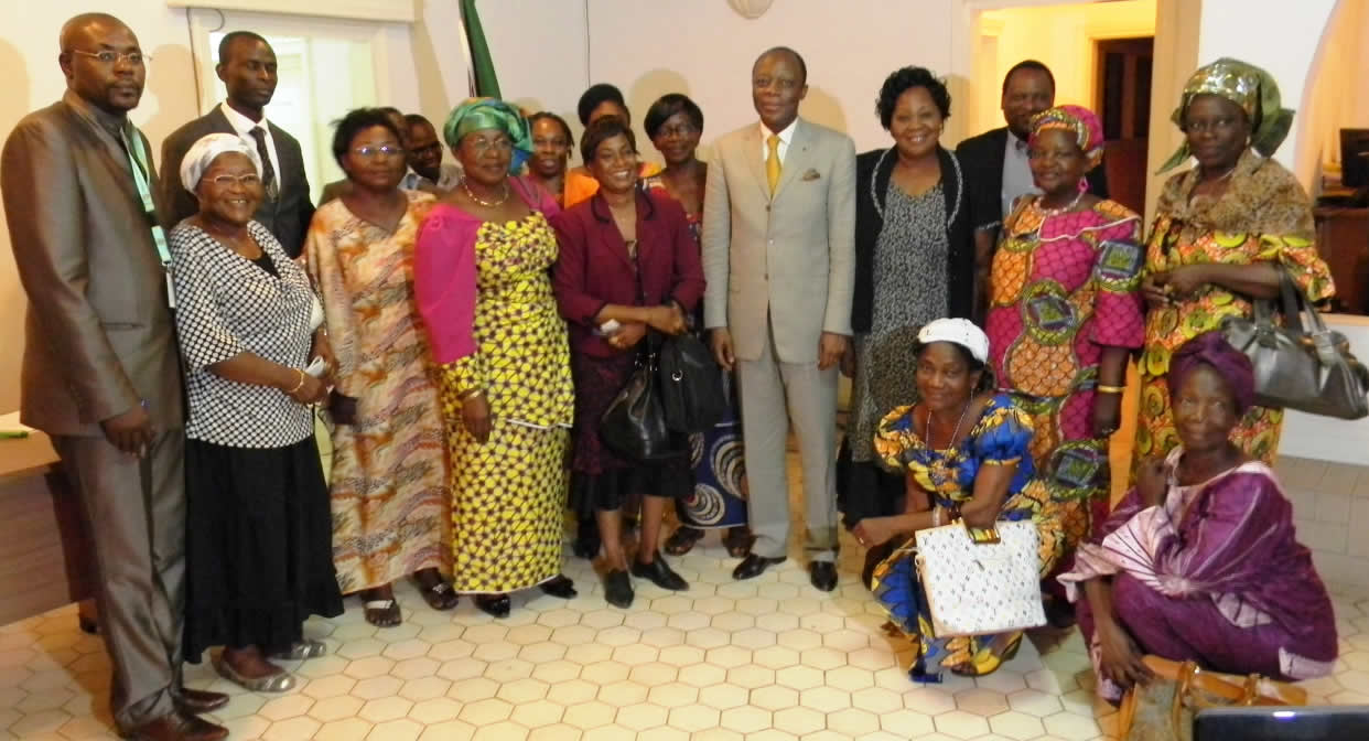 Group Picture of MISCA Head of Mission with CAR Women Leaders