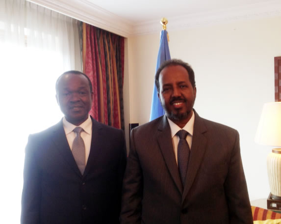 The Deputy Chairperson of the Commission of the African Union meets with the President of Somalia