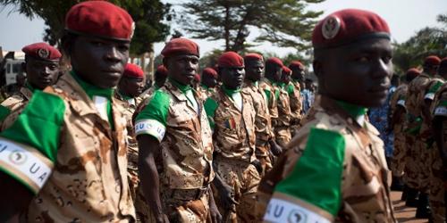 Des soldats tchadiens de la Misca